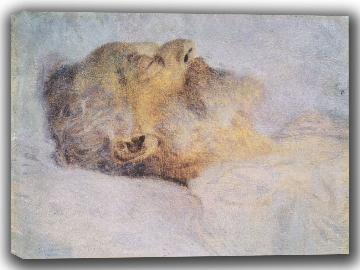 Klimt, Gustav: Old Man on His Deathbed. Fine Art Canvas. Sizes: A4/A3/A2/A1 (002225)